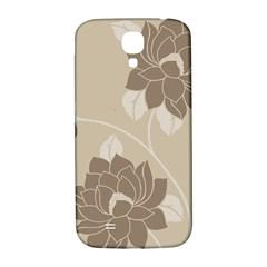 Flower Floral Grey Rose Leaf Samsung Galaxy S4 I9500/I9505  Hardshell Back Case