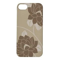 Flower Floral Grey Rose Leaf Apple iPhone 5S/ SE Hardshell Case