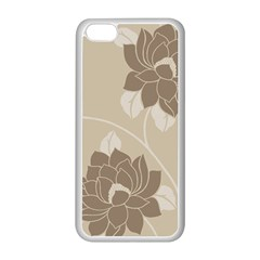 Flower Floral Grey Rose Leaf Apple iPhone 5C Seamless Case (White)