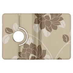 Flower Floral Grey Rose Leaf Kindle Fire HDX Flip 360 Case