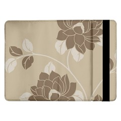 Flower Floral Grey Rose Leaf Samsung Galaxy Tab Pro 12.2  Flip Case