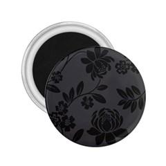 Flower Floral Rose Black 2.25  Magnets