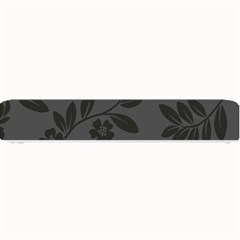Flower Floral Rose Black Small Bar Mats