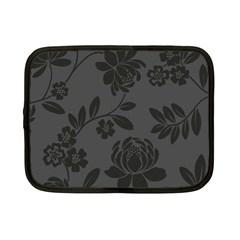 Flower Floral Rose Black Netbook Case (Small)