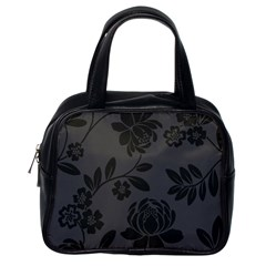 Flower Floral Rose Black Classic Handbags (One Side)