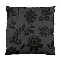 Flower Floral Rose Black Standard Cushion Case (Two Sides)