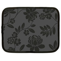 Flower Floral Rose Black Netbook Case (XL)