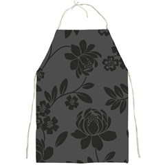Flower Floral Rose Black Full Print Aprons