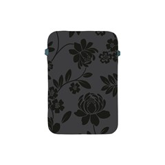 Flower Floral Rose Black Apple iPad Mini Protective Soft Cases