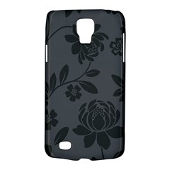 Flower Floral Rose Black Galaxy S4 Active
