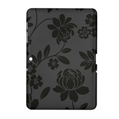 Flower Floral Rose Black Samsung Galaxy Tab 2 (10.1 ) P5100 Hardshell Case