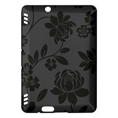 Flower Floral Rose Black Kindle Fire HDX Hardshell Case