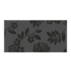 Flower Floral Rose Black Satin Wrap
