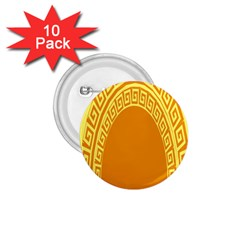 Greek Ornament Shapes Large Yellow Orange 1.75  Buttons (10 pack)