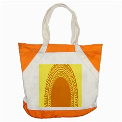 Greek Ornament Shapes Large Yellow Orange Accent Tote Bag