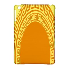 Greek Ornament Shapes Large Yellow Orange Apple iPad Mini Hardshell Case (Compatible with Smart Cover)