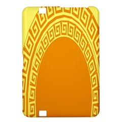 Greek Ornament Shapes Large Yellow Orange Kindle Fire HD 8.9