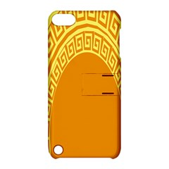 Greek Ornament Shapes Large Yellow Orange Apple iPod Touch 5 Hardshell Case with Stand