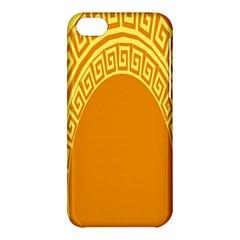 Greek Ornament Shapes Large Yellow Orange Apple iPhone 5C Hardshell Case