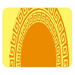Greek Ornament Shapes Large Yellow Orange Double Sided Flano Blanket (Small)