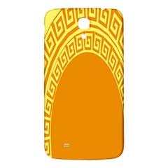 Greek Ornament Shapes Large Yellow Orange Samsung Galaxy Mega I9200 Hardshell Back Case