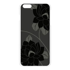 Flower Floral Rose Black Lola Flock Apple Seamless iPhone 6 Plus/6S Plus Case (Transparent)