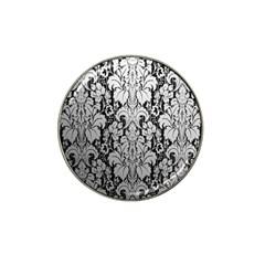 Flower Floral Grey Black Leaf Hat Clip Ball Marker (10 pack)