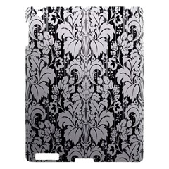 Flower Floral Grey Black Leaf Apple Ipad 3/4 Hardshell Case
