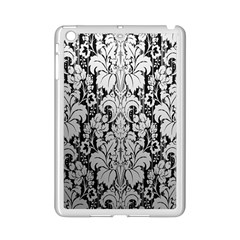 Flower Floral Grey Black Leaf iPad Mini 2 Enamel Coated Cases