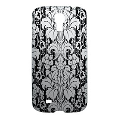 Flower Floral Grey Black Leaf Samsung Galaxy S4 I9500/I9505 Hardshell Case