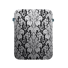 Flower Floral Grey Black Leaf Apple iPad 2/3/4 Protective Soft Cases