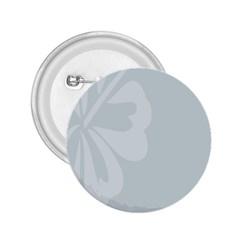 Hibiscus Sakura Glacier Gray 2.25  Buttons