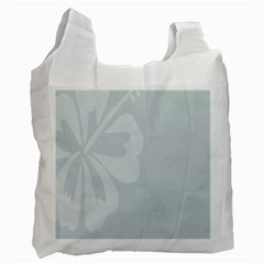 Hibiscus Sakura Glacier Gray Recycle Bag (Two Side)