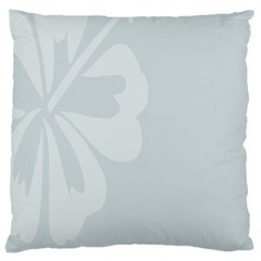 Hibiscus Sakura Glacier Gray Large Cushion Case (One Side)