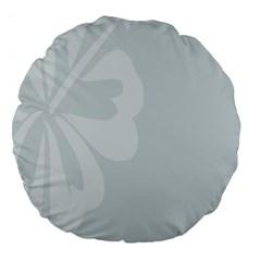 Hibiscus Sakura Glacier Gray Large 18  Premium Round Cushions