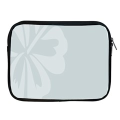 Hibiscus Sakura Glacier Gray Apple iPad 2/3/4 Zipper Cases