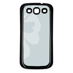 Hibiscus Sakura Glacier Gray Samsung Galaxy S3 Back Case (Black)