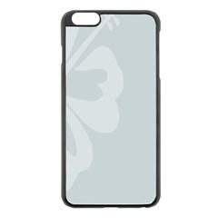 Hibiscus Sakura Glacier Gray Apple iPhone 6 Plus/6S Plus Black Enamel Case
