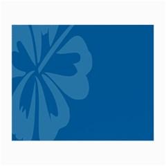 Hibiscus Sakura Classic Blue Small Glasses Cloth