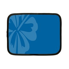 Hibiscus Sakura Classic Blue Netbook Case (Small)
