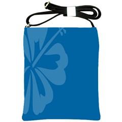 Hibiscus Sakura Classic Blue Shoulder Sling Bags