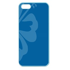 Hibiscus Sakura Classic Blue Apple Seamless iPhone 5 Case (Color)