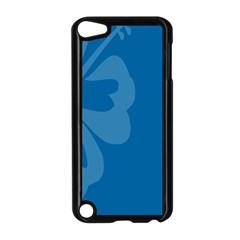 Hibiscus Sakura Classic Blue Apple iPod Touch 5 Case (Black)