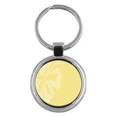 Hibiscus Custard Yellow Key Chains (Round)