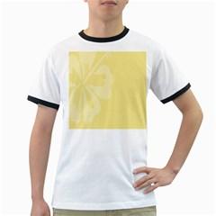 Hibiscus Custard Yellow Ringer T-Shirts