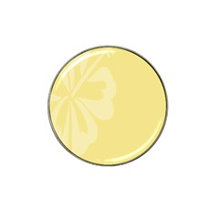 Hibiscus Custard Yellow Hat Clip Ball Marker (10 pack)