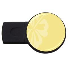 Hibiscus Custard Yellow USB Flash Drive Round (4 GB)