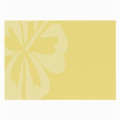 Hibiscus Custard Yellow Large Glasses Cloth
