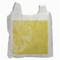 Hibiscus Custard Yellow Recycle Bag (One Side)