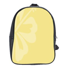 Hibiscus Custard Yellow School Bags (xl)